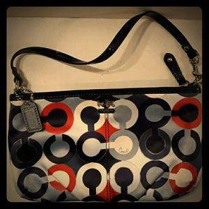Rare COACH MADISON Graphic OP Art Large Wristlet